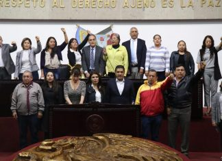 Culmina sesión constitutiva de la LXIV legislatura local