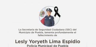 Fallece policía municipal de Puebla en cumplimiento del deber