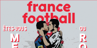 portada beso messi cr7